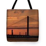 Port Savannah Sunset Tote Bag