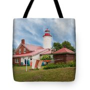 Portage River - Jacobsville - Lighthouse Tote Bag