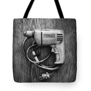 Porter Cable Drill On Plywood 76 In Bw Tote Bag