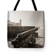 Porthleven Cannon Sepia Tote Bag