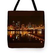 Portland At Night Tote Bag