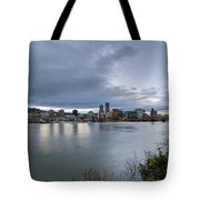 Portland City Downtown Cityscape During Evening Tote Bag