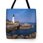 Portland Head Infrared Light Tote Bag by Brian Hale
