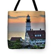 Portland Head Lighthouse At Daybreak 2 Tote Bag