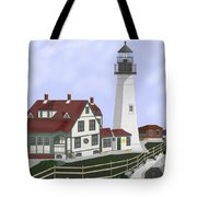 Portland Head Maine On Cape Elizabeth Tote Bag