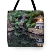 Portland Japanese Garden At Twilight Tote Bag
