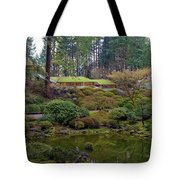 Portland Japanese Garden By The Lake Tote Bag