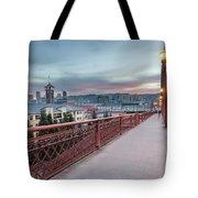 Portland Oregon Downtown On Broadway Bridge Tote Bag