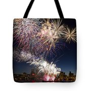 Portland Oregon Fireworks Tote Bag
