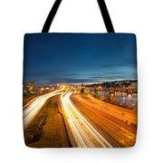 Portland Oregon Interstate Freeway Light Trails Tote Bag