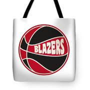 Portland Trail Blazers Retro Shirt Tote Bag