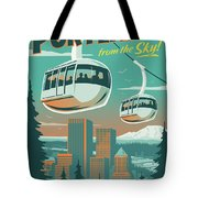 Portland Poster - Tram Retro Travel Tote Bag