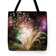 Portland Waterfront 4th Of July Fireworks Tote Bag