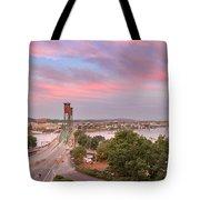 Portland Waterfront Hawthorne Bridge At Sunset Tote Bag