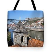 Porto And Gaia Cityscape In Portugal Tote Bag