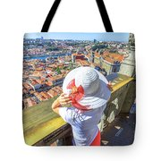 Porto Skyline Woman Tote Bag