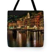 Portofino Bay By Night II - Notte Sulla Baia Di Portofino II Tote Bag