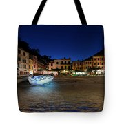 Portofino Bay By Night IIi- Piazzetta Di Portofino By Night Tote Bag