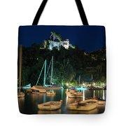 Portofino Bay By Night Iv - Castello Brown Castle Tote Bag
