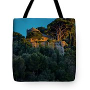 Portofino Bay By Night Vi - Castello Brown Tote Bag