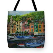 Portofino Harbor Tote Bag