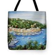 Portofino Majestic Panoramic View Tote Bag by Marilyn Dunlap