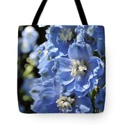 Portrait Blue Delphinium 114 Tote Bag