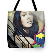 Portrait By The Back Stair Tote Bag