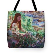 Portrait By The Stream Tote Bag