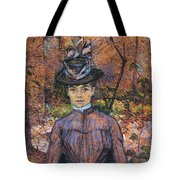 Portrait De Suzanne Valadon Madame Suzanne Valadon, Artiste Peintre 1885 Tote Bag