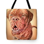 Portrait Drawing Of A Dog Tote Bag