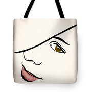 Portrait In Line Tote Bag