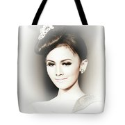 Portrait Of A Beautiful Girl Tote Bag