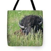 Portrait Of A Bison Tote Bag