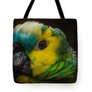 Portrait Of A Blue-fronted Parrot Tote Bag