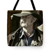 Portrait Of A Bygone Time Sheriff Tote Bag