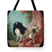 Portrait Of A Cavalier King Charles Spaniel Tote Bag