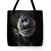 Portrait Of A Chimpanzee Tote Bag