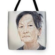 Portrait Of A Chinese Woman With A Mole On Her Chin Tote Bag