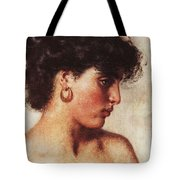 Portrait Of A Dark-haired Beauty Konstantin Makovsky Tote Bag