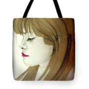 Portrait Of A Lovely Young Woman Tote Bag