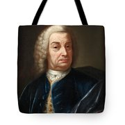 Portrait Of A Gentleman Half Length Wearing A Wig And A Blue Velvet Cape Tote Bag