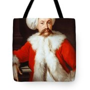Portrait Of A Gentleman In Oriental Costume Tote Bag