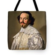 Portrait Of A Gentleman In White Tote Bag