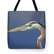 Portrait Of A Great Blue Heron Tote Bag