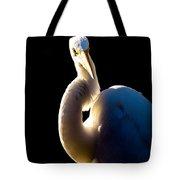 Portrait Of A Great Egret  Tote Bag