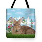 Portrait Of A Gregarious Brown Bunny Tote Bag