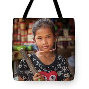 Portrait Of A Khmer Girl - Cambodia Tote Bag