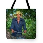 Portrait Of A Khmer Rice Farmer - Cambodia Tote Bag