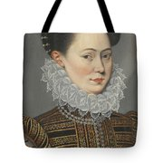 Portrait Of A Lady Head And Shoulders In A Lace Ruff Tote Bag